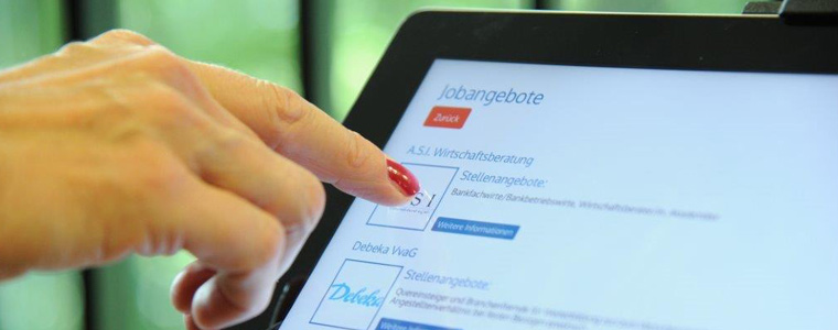 simons works digitale Medien touchscreen